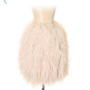 Lafeyette 148 ostrich skirt